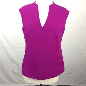 Ted Baker Fuchsia Paysy High V-neck Blouse